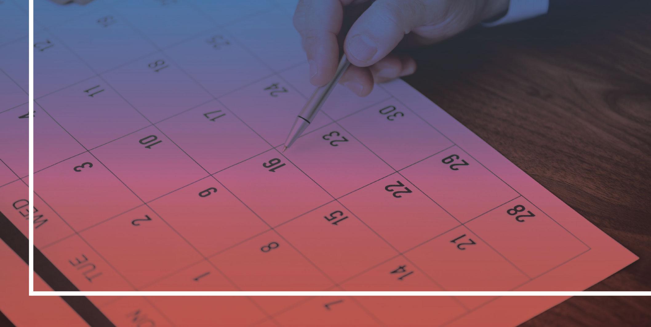 fiche 9 - calendrier - organisation du travail